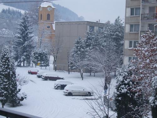 Sídlisko Rozkvet v zime