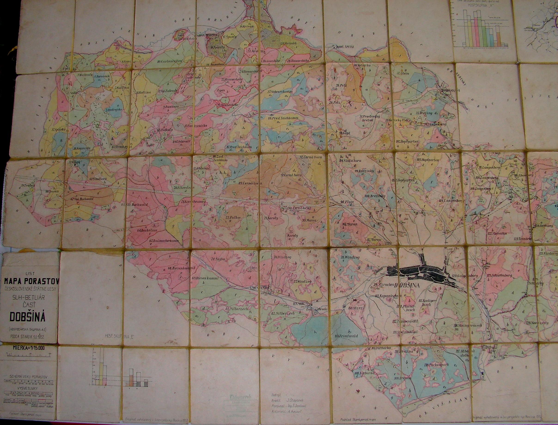 Mapa chotárnych názvov - západná časť