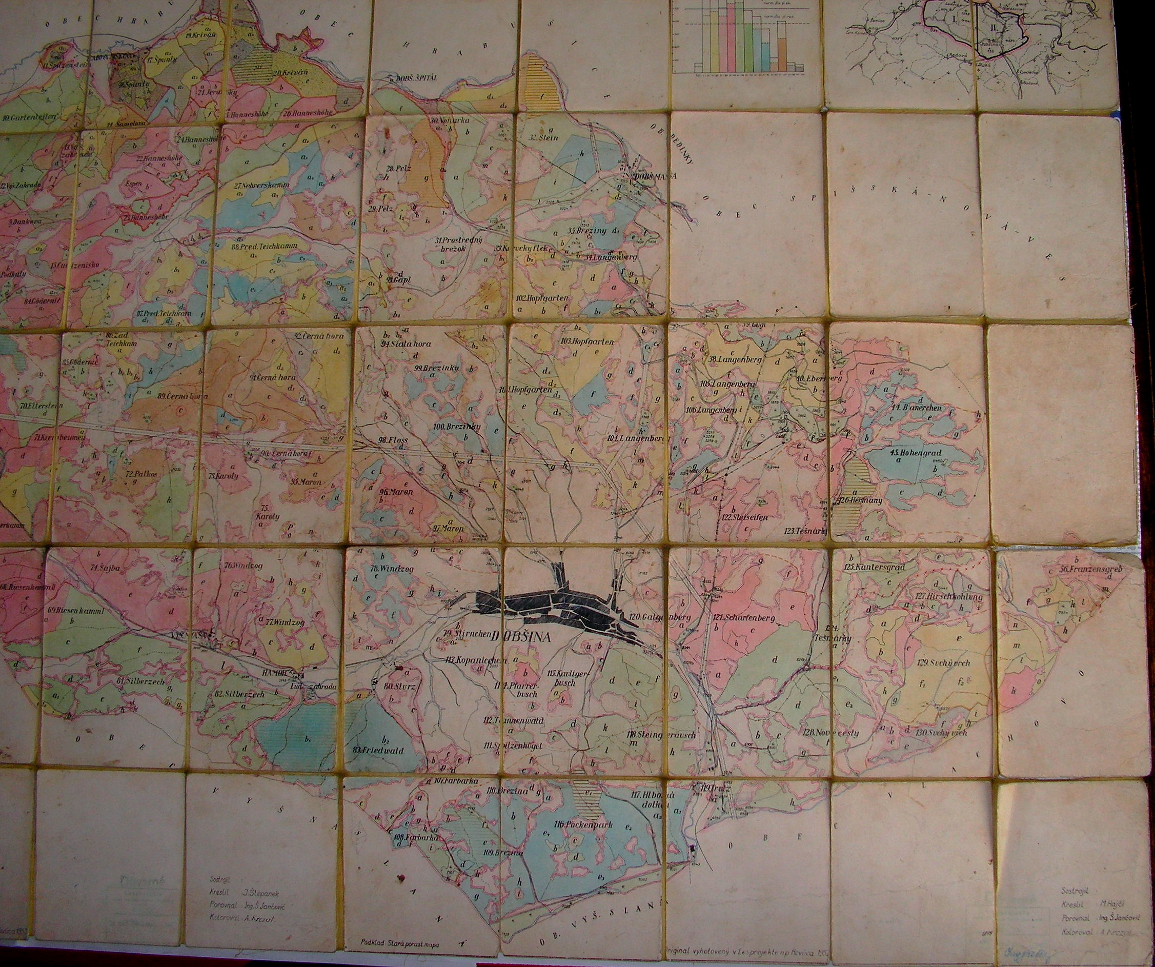 Mapa chotárnych názvov - východná časť