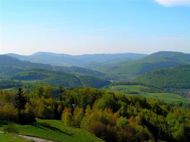 Údolie rieky Slanej z Dobšinského kopca