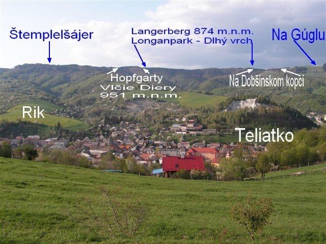Popis Dobšinských vrchov, Štempelšájer a iné