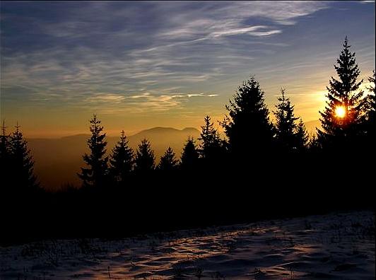 Od Starca podvečerný pohľad z Gúgla