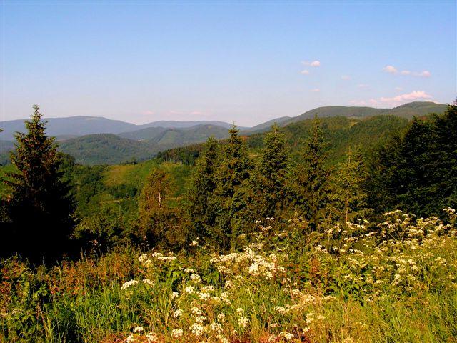 Pohľad z Dobšinského kopca na Čiernu horu