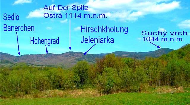 Popis východnej časti vrchov horného okruhu 2