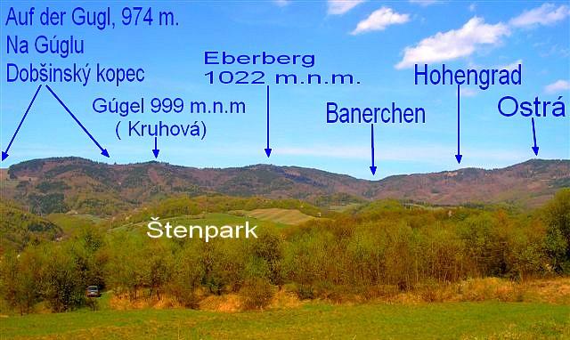 Popis východnej časti vrchov horného okruhu 1