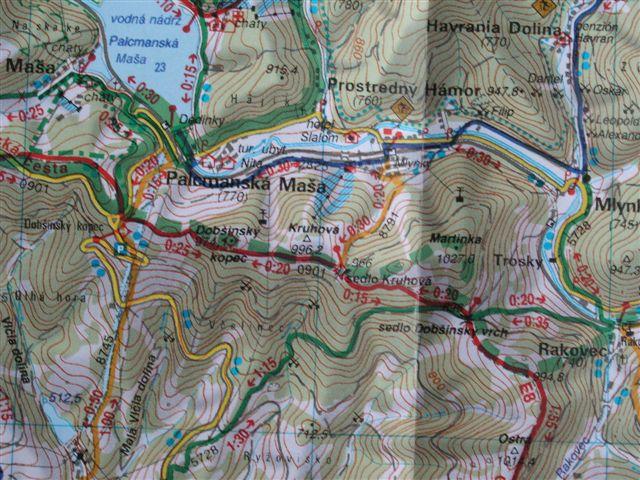 Mapa Slovenský raj.  Korzár  3.6.09